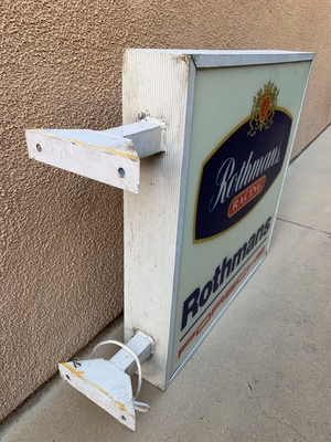 """DT: Authentic Double-sided Rothmans Racing Illuminated Sign (34"""" x 28"""")"""