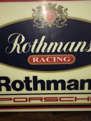 "Porsche Rothmans Racing Illuminated Sign (35"" x 35"")"
