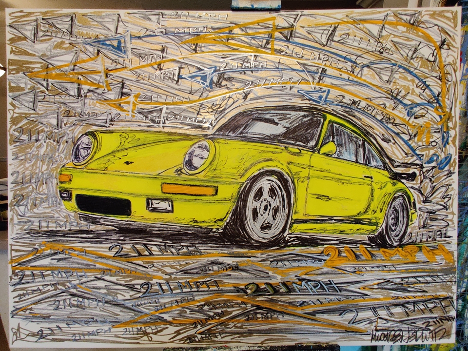 """RUF Yellowbird"" Painting by Michael Ledwitz"