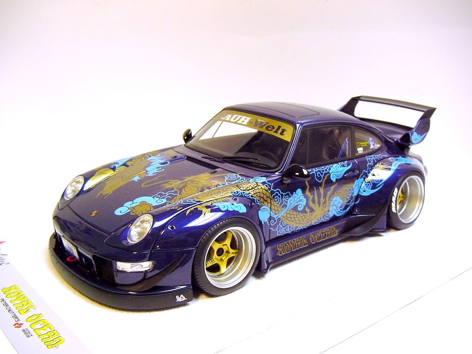 "DT: 1:18 Scale RAUH-Welt PORSCHE 911 (993) RWB ""Royal Ocean"" by Fuelme"