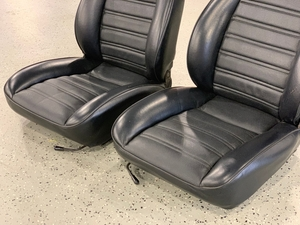 1974-1989 Porsche 911 Black Leather Seats