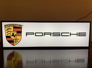 "NO RESERVE - Illuminated Porsche Sign (22"" x 7"" x 4"")"