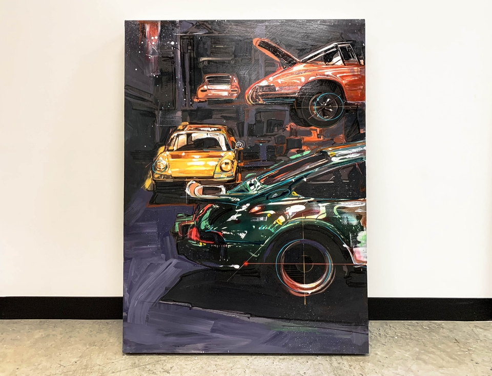 """""""The Garage"""" Painting by Stephen Selzler"""