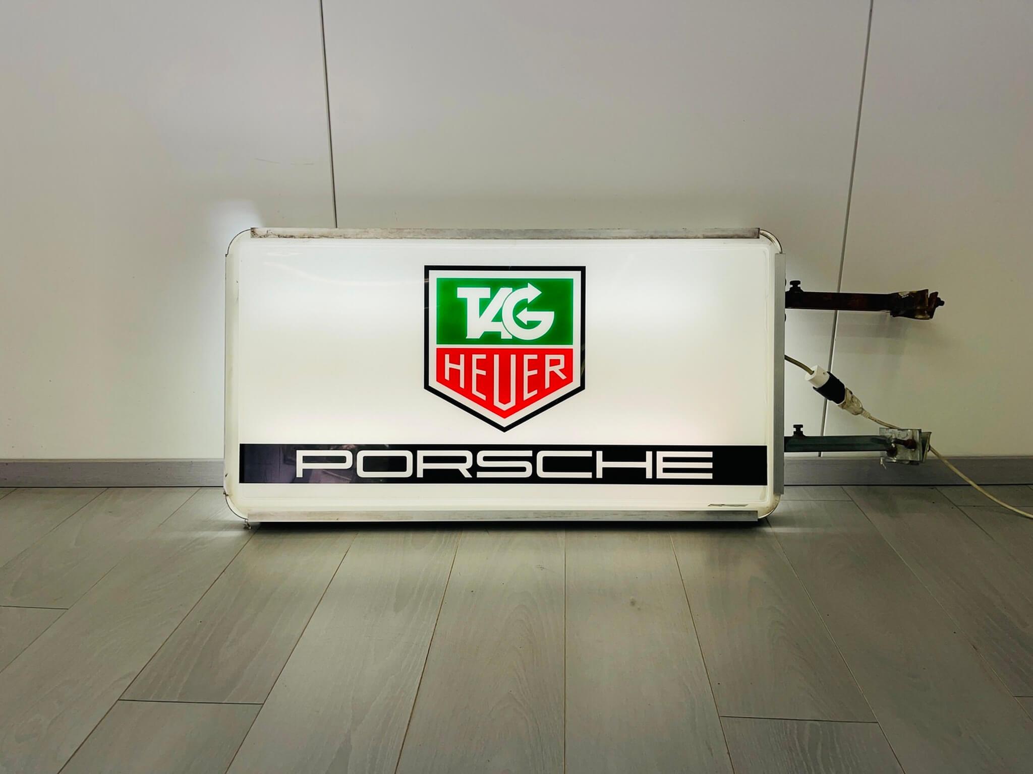 "No Reserve Porsche TAG Heuer Illuminated Sign (42"" x 23"")"