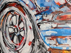 """""""The One and Only RSR"""" Painting by Michael Ledwitz"""