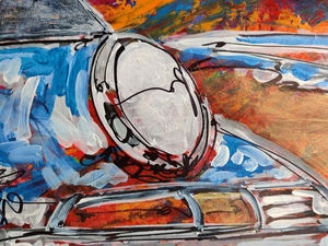 """The One and Only RSR"" Painting by Michael Ledwitz"
