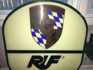 DT: RUF Double-sided Illuminated Sign